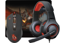 Gaming combo headset +mouse+pad DEFENDER Devourer MHP-006 podrobno